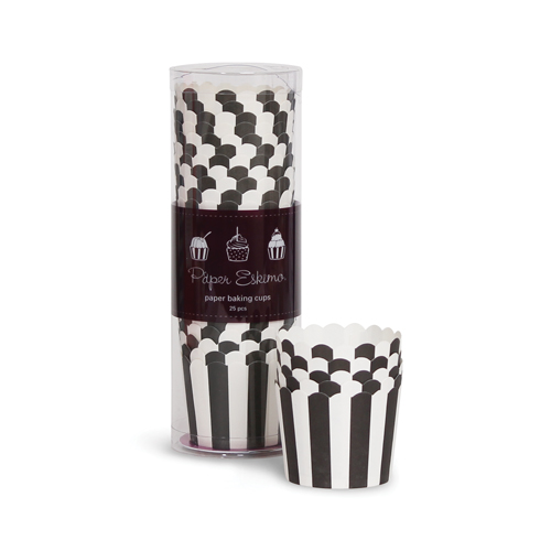 Baking Cups ~ Black Stripes