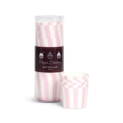 Baking Cups ~ Marshmallow Pink Stripes