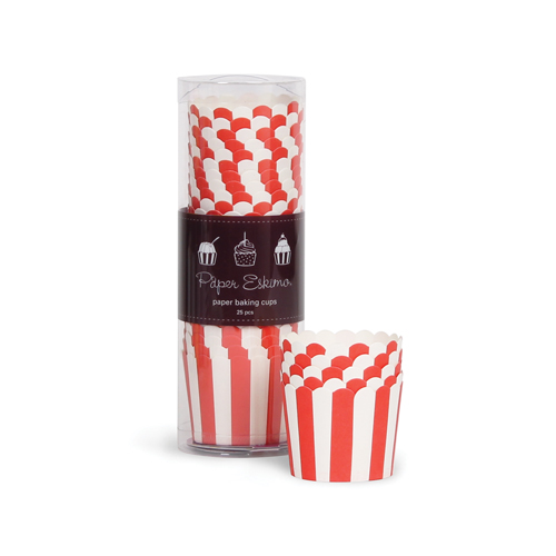 Baking Cups ~ Red Stripes