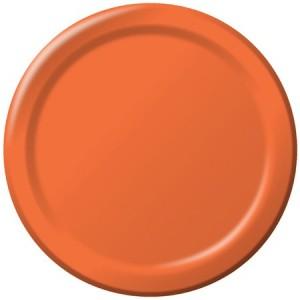 Paper Plates ~ Bittersweet Orange