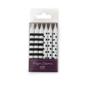 Candles ~ Black Tie Stripes & Spots