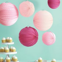 Paper Accordion Lanterns ~ Pink