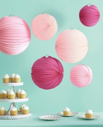 Paper Accordion Lanterns ~ Pink