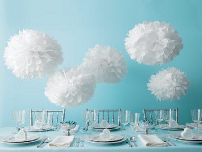 Tissue Paper Pom Pom Kit ~ White