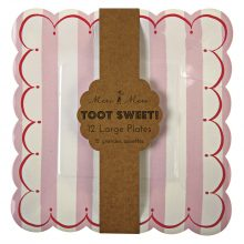 Paper Plates ~ Toot Sweet Pink Large