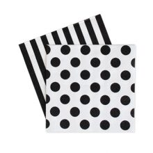 Paper Napkins ~ Black Spots & Stripes