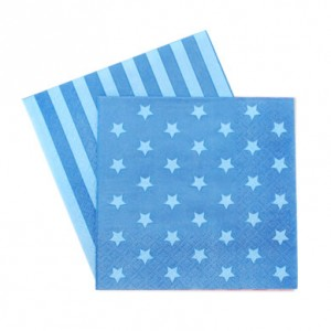 Paper Napkins ~ Blue Stars & Stripes