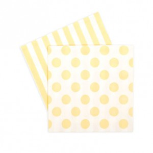 Paper Napkins ~ Limoncello Spots & Stripes