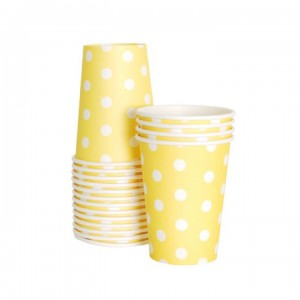 Paper Cups ~ Limoncello Polka Dots