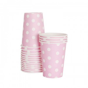 Paper Cups ~ Marshmallow Pink Polka Dots