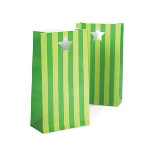 Party Bags ~ Apple Green Stripes