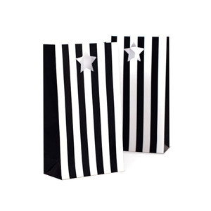 Party Bags ~ Black Stripes