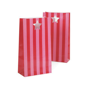 Party Bags ~ Pink Floss Stripes
