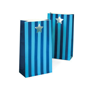 Party Bags ~ Blue Stripes