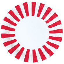 Paper Plates ~ Candy Red Stripes