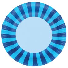 Paper Plates ~ Blue Stripes