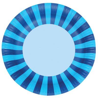 Paper Plates ~ Blue Stripes
