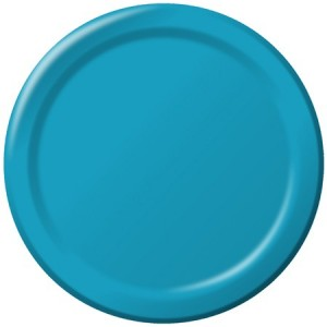Turquoise Paper Plates