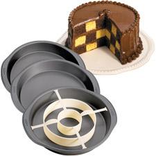 Checkerboard Cake Pan Set
