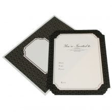 Invitations ~ Luxe Black