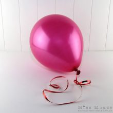 Metallic Magenta Balloons which are helium quality latex.