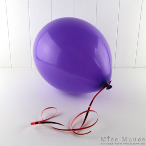 Purple Balloons you can inflate with helium or air.