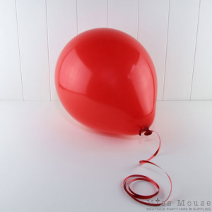 Red Balloons - helium quality latex balloon.
