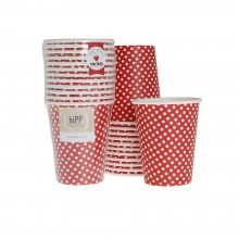 Paper Cups ~ Red Polka Dot