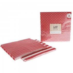 Paper Napkins ~ Red Polka Dot & Stripe