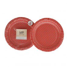 Paper Plates ~ Red Polka Dot