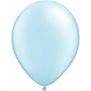 Pearl Light Blue Balloons by Qualatex are a helium quality balloon.
