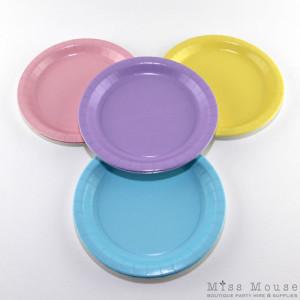 Vintage Pastels Paper Plates