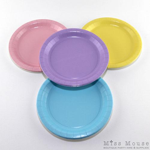 Vintage Pastels Paper Plates  sc 1 st  Miss Mouse Boutique & Vintage Pastels Paper Plates | Pastel Party Plates | NZ