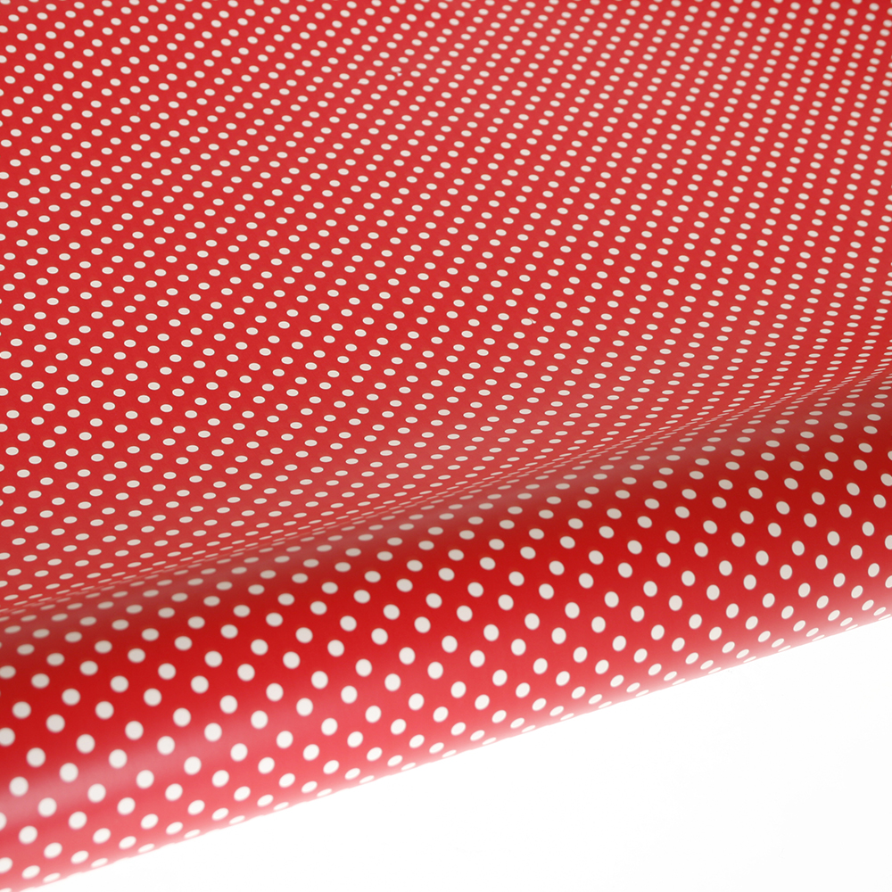 Table Runner / Gift Wrap ~ Red Polka Dot