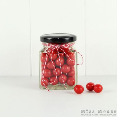 190mL Square Glass Jars