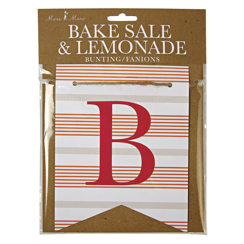 Bunting ~ Bake Sale / Lemonade