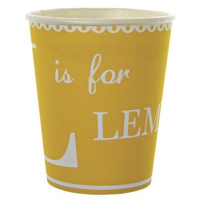 Paper Cups ~ Lemonade