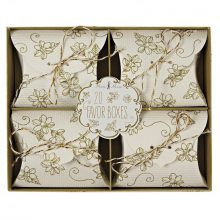 Favour Boxes ~ Elegant Gold Floral