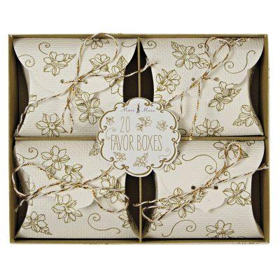 Favour Boxes ~ Elegant Gold Floral