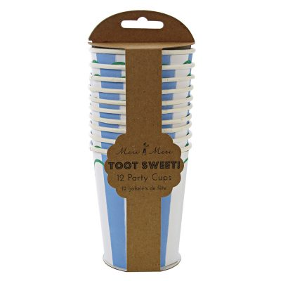Paper Cups ~ Toot Sweet Blue