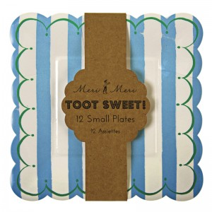 Paper Plates ~ Toot Sweet Blue