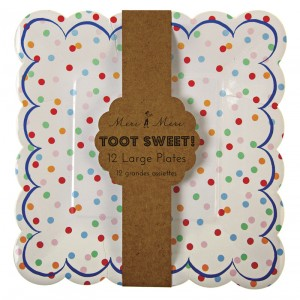 Paper Plates ~ Toot Sweet Spotty Large
