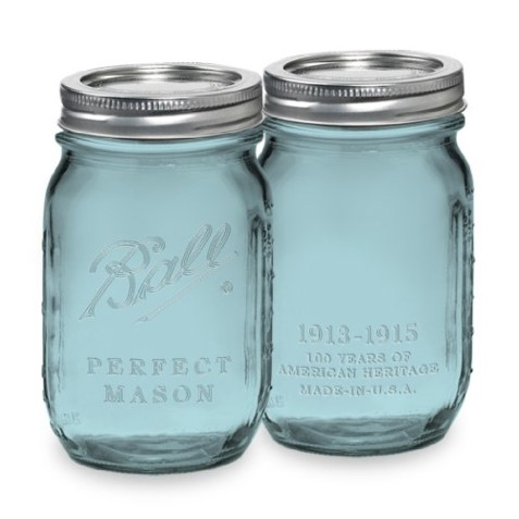 Ball Mason Jar ~ Heritage Blue Pint