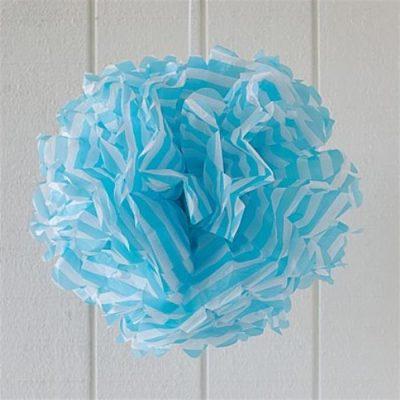 Pom Pom ~ Blue Stripe