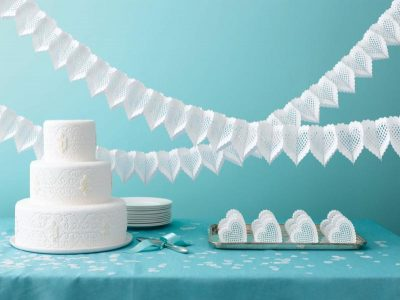 White Die Cut Heart Garland