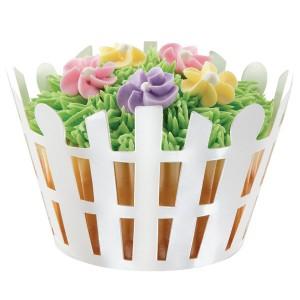 Cupcake Wraps ~ White Picket Fence