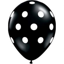 Black Big Polka Dots Balloons