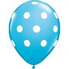 Robins Egg Blue Big Polka Dots Balloons