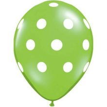 Lime Green Big Polka Dots Balloons by Qualatex