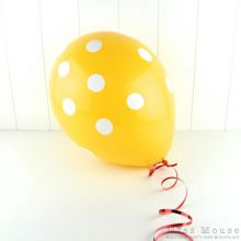 Yellow Big Polka Dots Balloons